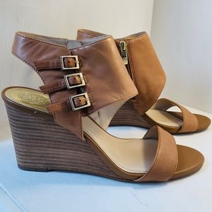 Vince Camuto wedge sandals NWOT
